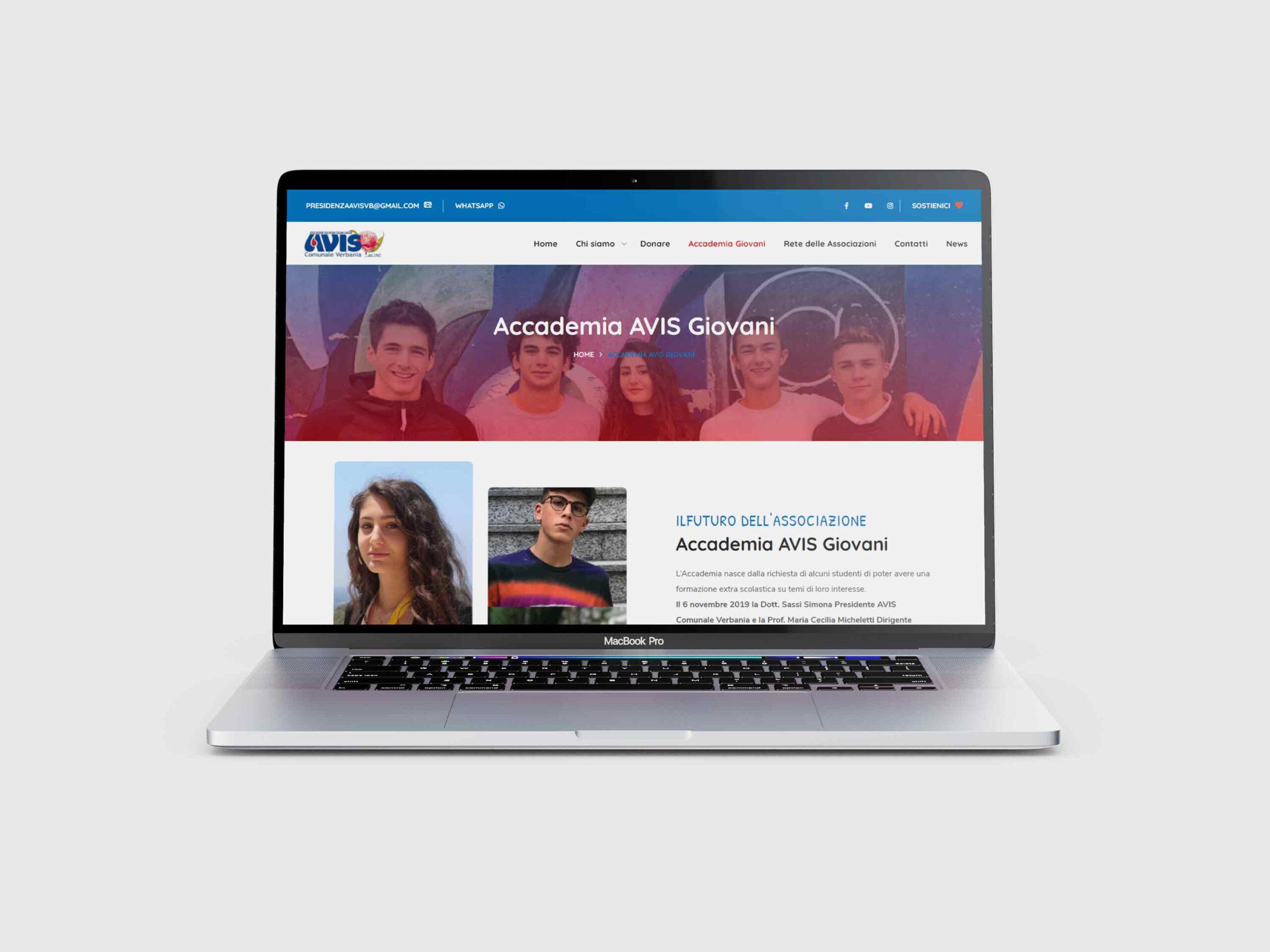 MADI-comunicaziono_AVIS-Comunale-Verbania-sito-web pagina Accademia Giovani AVIS